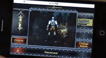 World of Warcraft For iPhone Caught On Video?
