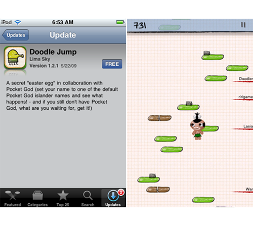 Doodle Jump Update Unleashes The Pygmy