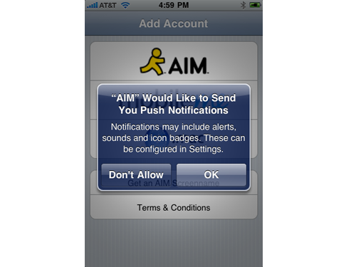 AIM With Push Notifications Available In App Store NOW!