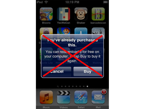 "iPhone OS 3.0 Re-Download Message A ""Bug"" Says Apple"