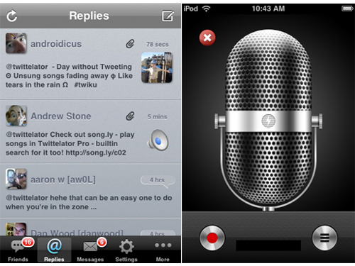 Twittelator Pro v2.3 Gets Audio Tweeting And More