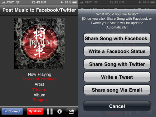 Share Your Music On Twitter And Facebook With Face The Music, Free For A Limited Time