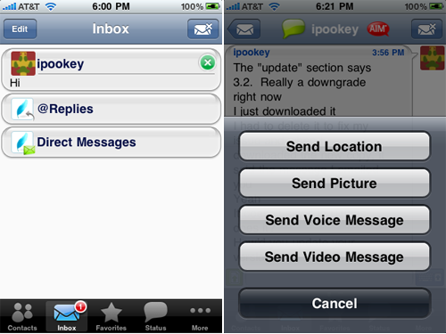 IM+ v3.3 Released, Now You Can Upload Videos From Your iPhone 3GS