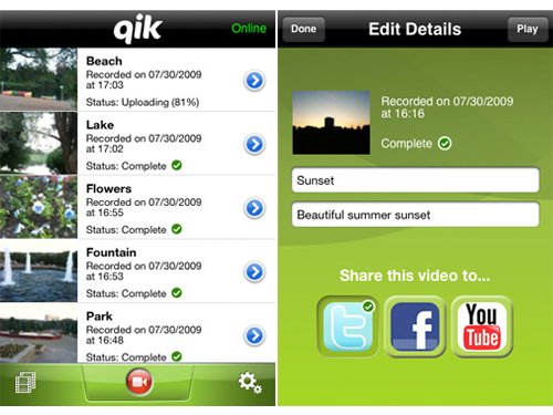 Qik Now Available In App Store, Not Just For Jailbreak Users Anymore