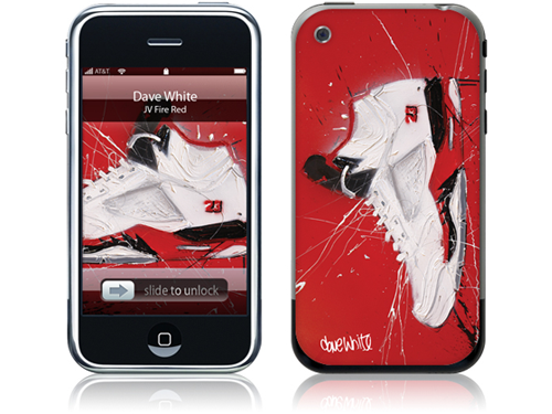 Win Dave White's 'JV - Fire Red' Skin For Your iPhone
