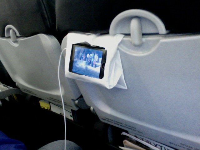 How To Make An Airplane iPhone Stand For Free Using Only On-Board Stuff