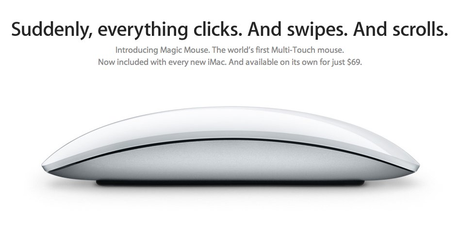 The Mouse Reinvented, By Apple