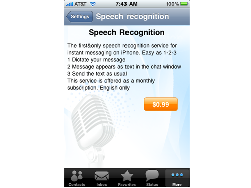 IM+ Updated With Speech Recognition And Controversial New Icon