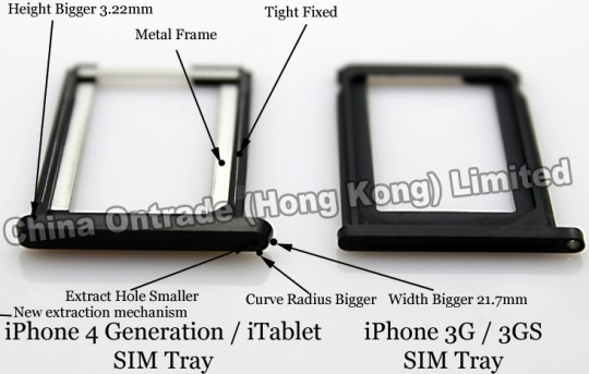 Mysterious iPhone 4G/iTablet Sim Tray Appears On The Web