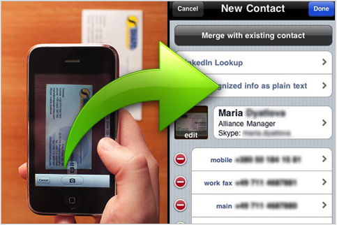 Automagically scan business cards with new app colourmoves