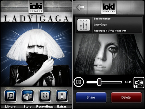 iOki's Lady Gaga-Branded iPhone Karaoke App Now Available