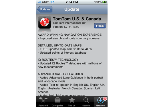 TomTom v1.2 Now Available, Includes iPod Touch Support