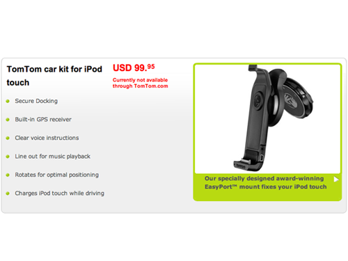 TomTom Announces A New Car Kit Specifically For iPod Touch (Updated)