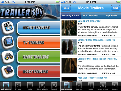 TrailerSpy Mobile - Trailers For Movies, Games, TV Shows, And Books All In One App