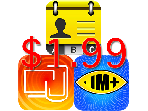 Get IM+, RDM+, And Business Card Reader For Only $1.99 Each For A Limited Time