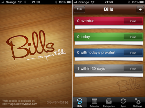 PoweryBase Needs Your Help To Beta Test 'Bills ~ On Your Table' (Updated)