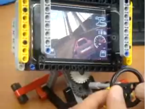Homemade Lego Steering Wheel Turns Your iPhone Into A Hamster-Sized Racing Simulator