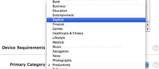 """Coming Up: Apple Is Adding An """"Explicit"""" Category To The App Store (Update: It's Gone!)"""