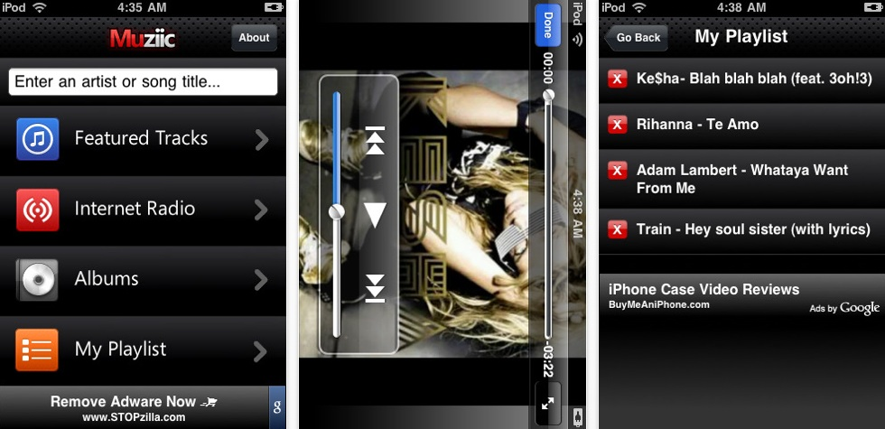 Free Muziic For iPhone And iPod Touch