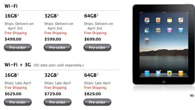 Unconfirmed: Almost 100,000 iPads Already Pre-Ordered