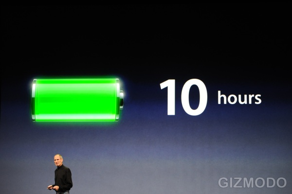 Steve Jobs Confirms The iPad's 10 Hours Of Battery Life, From His iPad