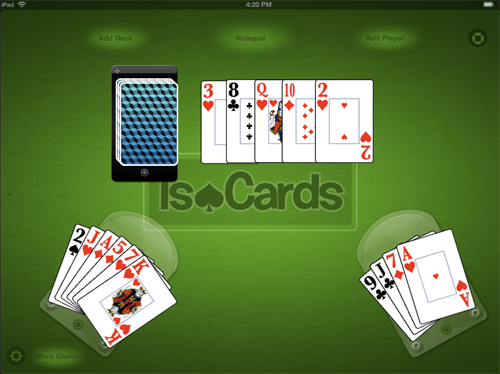 Turn Your iPad Into A Ruleless Deck Of Cards With IsoCards, Available For Free On Launch Day