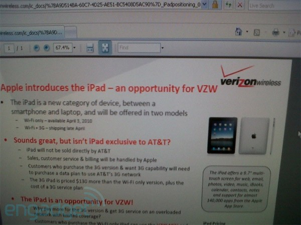 Verizon Wants Your iPad On Its 3G, Via MiFi