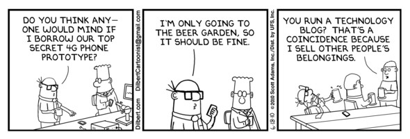 Humor: Dilbert & That Lost 4G iPhone