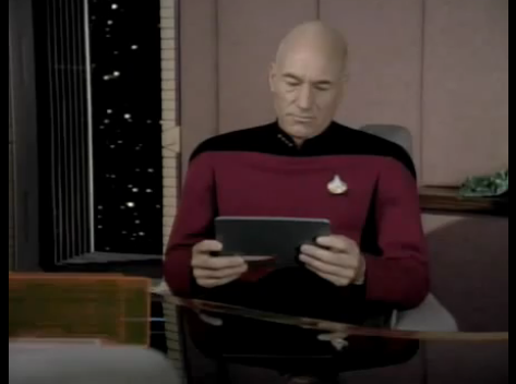 Steve Jobs Must Be a Star Trek Fan - Captain Picard Has An iPad