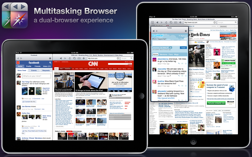 Multitasking Browser For iPad Lets You Do More While Surfing
