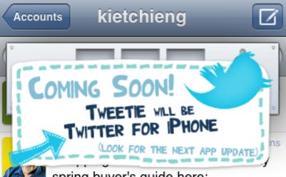 Twitter For iPhone Is One Tweetie Update Away