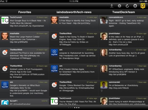 Tweetdeck For iPad Is Out - Just Makes Sense