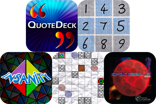 iPhone And iPad Apps Gone Free: QuoteDeck, Doodle Puzzle, Spaceballs, And More