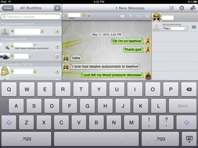 Beejive For iPad Awaiting Approval