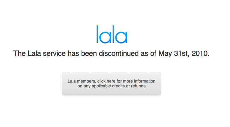 Lala Closes, Makes Way For iTunes.com?