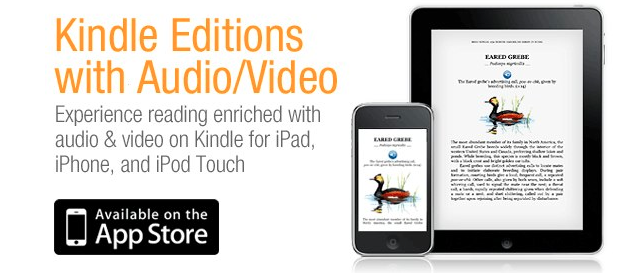 Kindle App Improved, Brings Audio And Video Content To eBooks