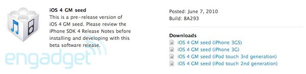iOS 4 Gold Master Edition Now Available