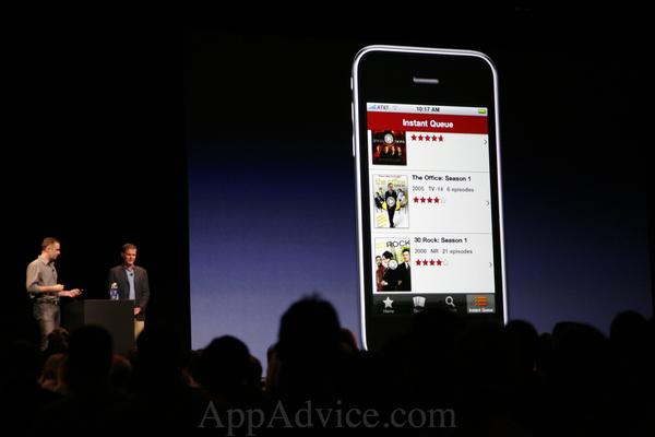 WWDC 2010: Netflix on iPhone