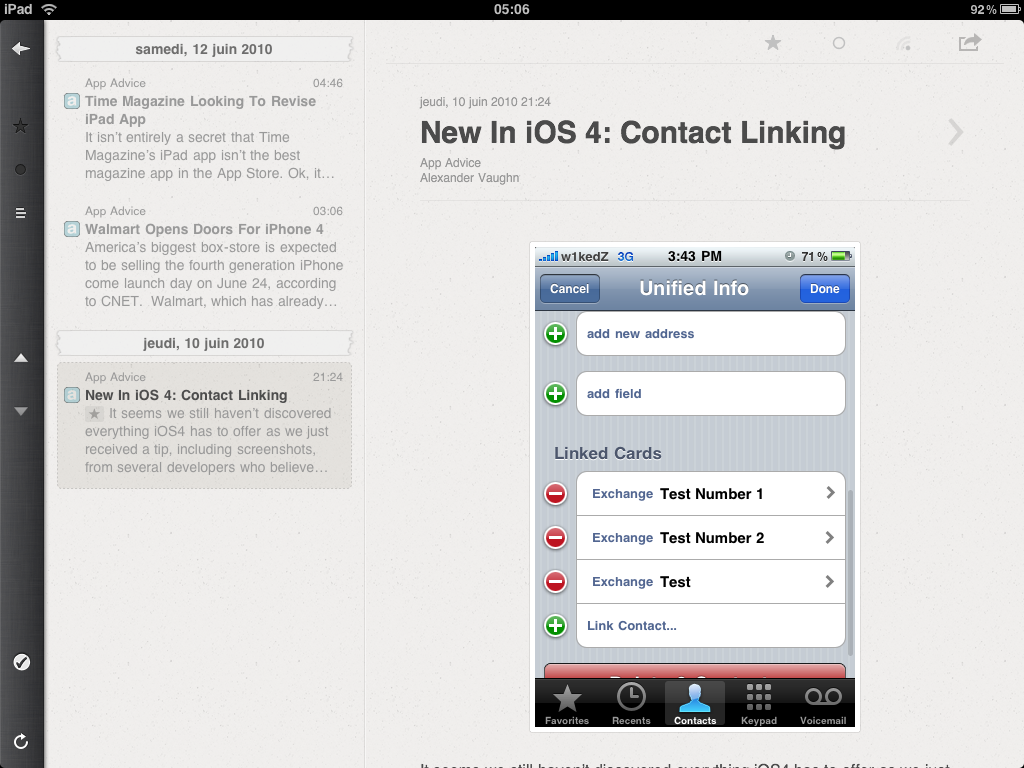 iPad & RSS - One Reeder to Rule Them All