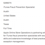 Apple Looking For An iTunes Store Sheriff