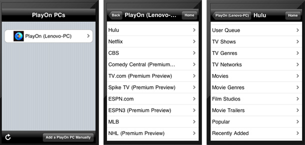 PlayOn Now Offers Streaming Service On iPad
