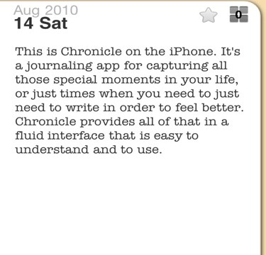 QuickAdvice: Record Life Moments On-the-Go with Chronicle on iPhone