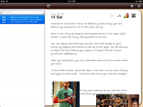 QuickAdvice: Keep a Personal Journal on Your iPad with Chronicle