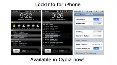 Jailbreak Only: LockInfo Updated - Bugs Resolved On iOS 4