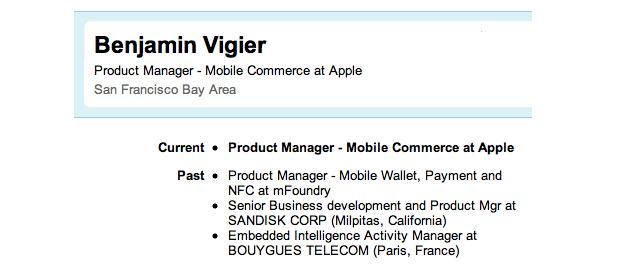 Apple Employs New Near Field Communications Expert