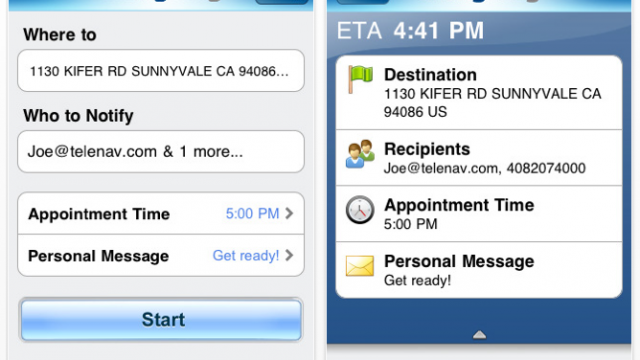 OnMyWay - TeleNav's Free App Lets People Know Where You Are