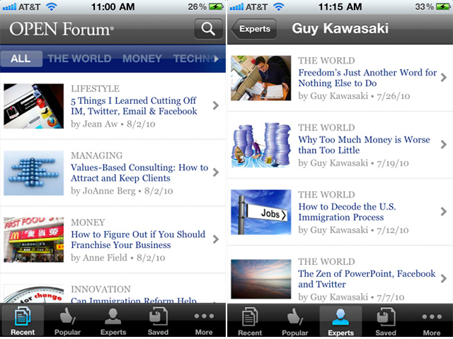 American Express Releases iPhone App For The Small Business OPEN Forum Members