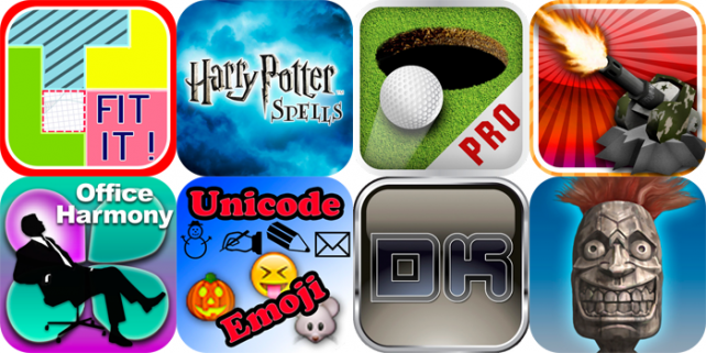 iPhone And iPad Apps Gone Free: Fit It!, Harry Potter: Spells, Golf Putt Pro And More