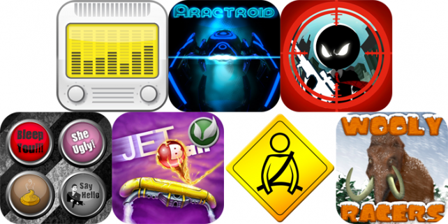 iPhone And iPad Apps Gone Free: Alarm Clock Radio, Aractroid, Hired Gun And More
