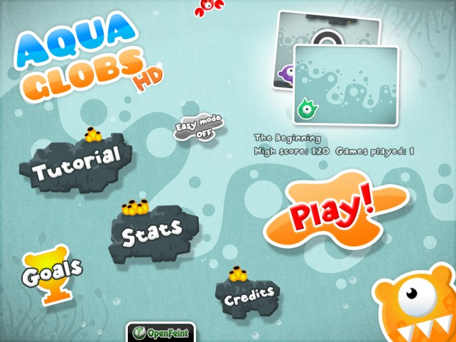 Combine Wiggly Globs On Your iPad With Aqua Globs HD